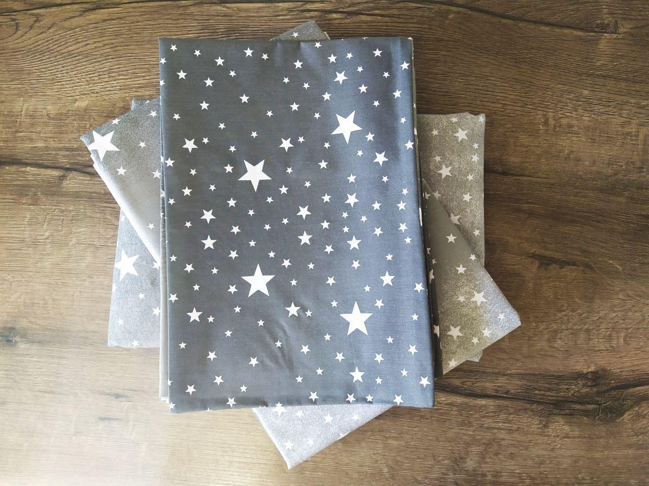 Распродажа! Двуспальный комплект постельного белья бязь хлопок 80% GoldLux GL4188 Звезды