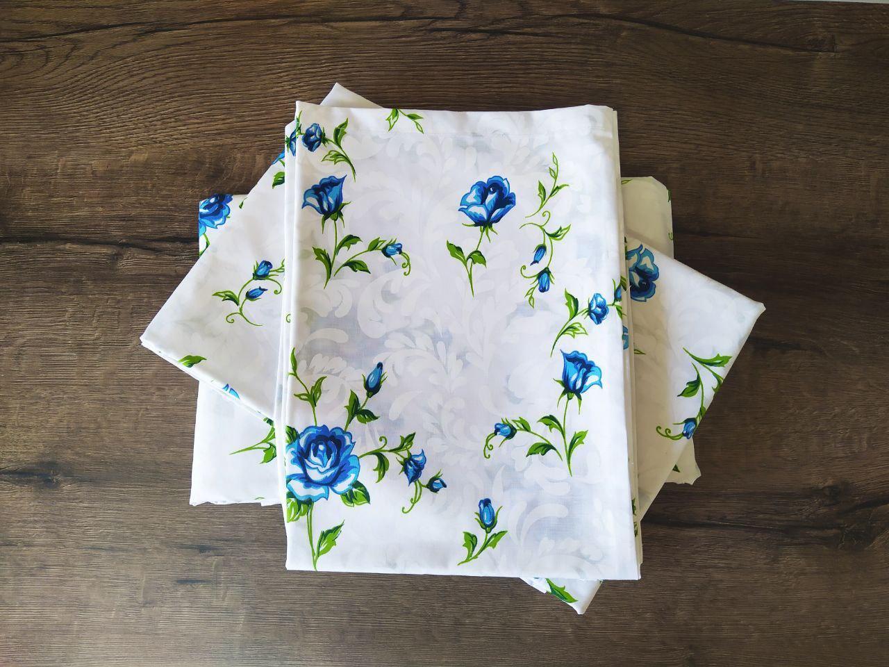 Распродажа! Комплект постельного белья Евро размера бязь хлопок 80% GoldLux GL178 Цветы
