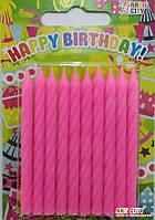 Свечи праздничные розовые 10шт/уп