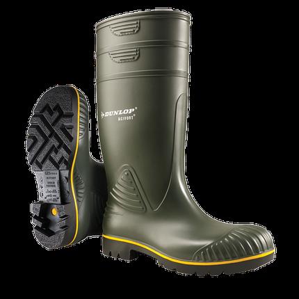 Сапоги резиновые защитные спецобувь для пищевых предприятий Dunlop Acifort Heavy Duty цвет зеленый 42, фото 2