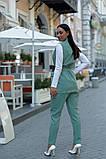 Женский брючный костюм тройка жилетка+гольф+брюки батал размер:48-50,52-54,56-58,60, фото 4