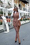 Женский брючный костюм тройка жилетка+гольф+брюки батал размер:48-50,52-54,56-58,60, фото 7