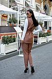 Женский брючный костюм тройка жилетка+гольф+брюки батал размер:48-50,52-54,56-58,60, фото 8