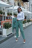 Женский брючный костюм тройка жилетка+гольф+брюки батал размер:48-50,52-54,56-58,60, фото 6