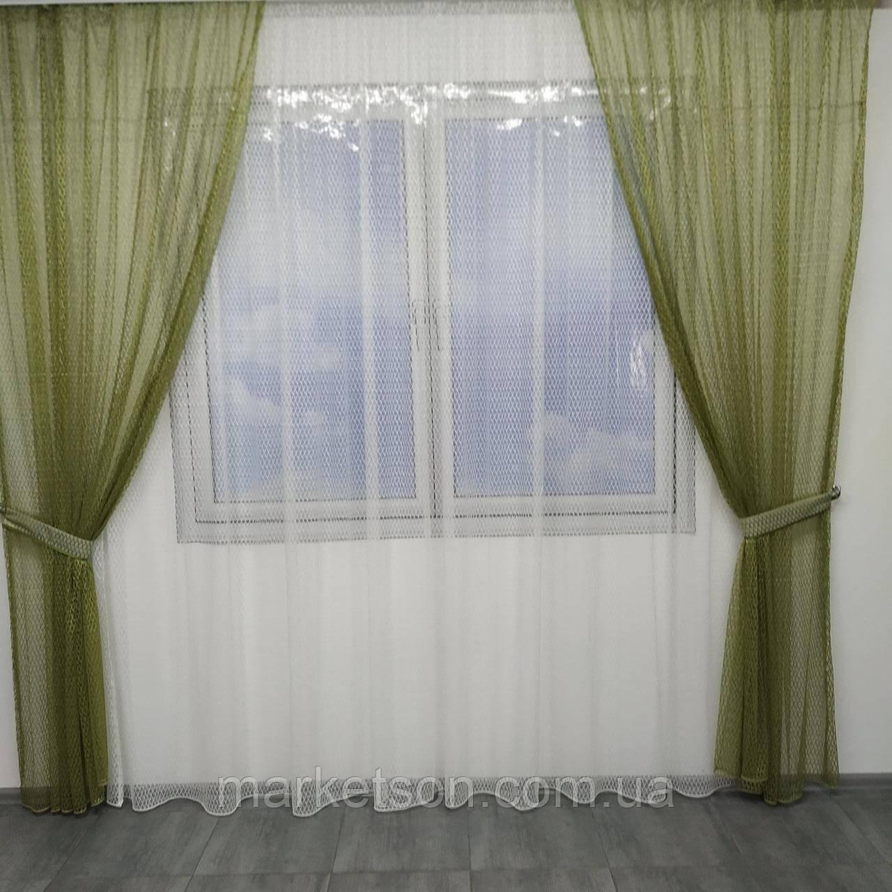 Готовые шторы из сетки 200х270см и тюль 400х270