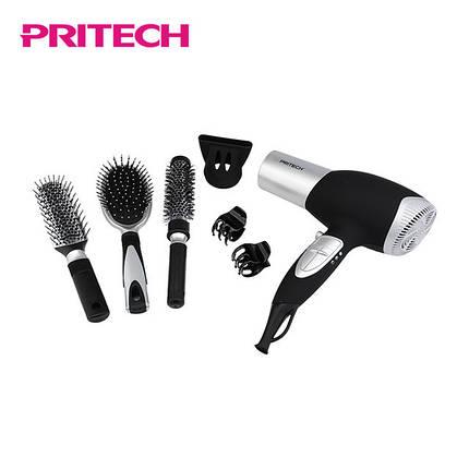 Фен многофункциональный 7в1 Pritech LD-6071 | Набір для укладання волосся з феном 7в1 PRITECH, фото 2