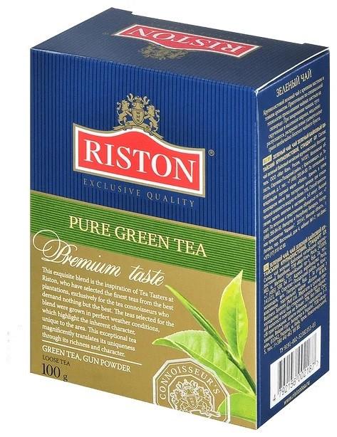 Зеленый листовой чай Ристон 100 грамм