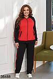 Раздельный спортивный костюм кофта на молнии + штаны р. 48-50, 52-54, 56-58, фото 4