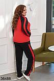 Раздельный спортивный костюм кофта на молнии + штаны р. 48-50, 52-54, 56-58, фото 6