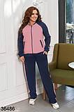 Раздельный спортивный костюм кофта на молнии + штаны р. 48-50, 52-54, 56-58, фото 9