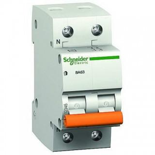 Автоматичний вимикач Schneider Electric ВА63 2P 20A