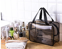 Косметичка сумка дорожняя прозрачная 28*20*12 см, фото 1