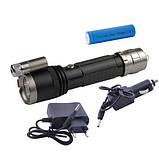Ліхтар Police ЗУ 220V/12V, 1x18650, zoom, лазер, фото 2