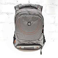 Рюкзак школьный для мальчика,серый,текстиль. Арт.8023 (Китай)