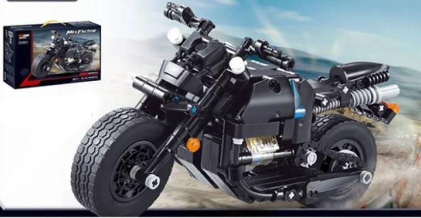 Конструктор гоночный мотоцикл размер Decool, фото 2