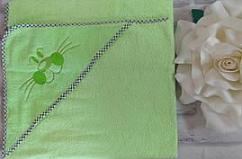 Полотенце уголок для купания из махры 90х90 см