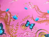 "Ткань плащевка ""Бабочки"", фото 1"