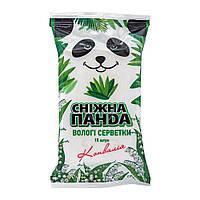 Серветки вологі Сніжна панда для рук Орхідея 15 шт