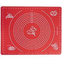 Доска силиконовая (коврик) для раскатки теста и выпечки XU54 40х50см