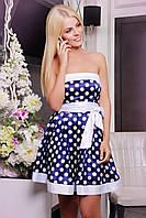 Роскошное женское платье в горошек IR Монро
