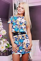 Стильное женское платье с эффектом вышивки IR Вышиванка