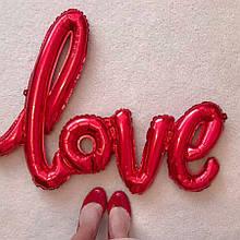 Фольгированный шарик LOVE красный 80 см 1853