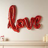 Фольгированный шарик LOVE красный 80 см 1853, фото 2