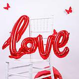 Фольгированный шарик LOVE красный 80 см 1853, фото 3