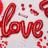 Фольгированный шарик LOVE красный 80 см 1853, фото 4
