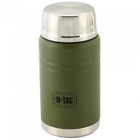 M-Tac термос 750 мл со складной ложкой олива/нерж