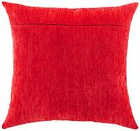 Обратная сторона подушки, красный