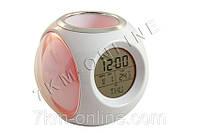 Настольные часы с подставкой для ручек + ПОДАРОК: Брелок с паракордом ультрафиолетовый лазер и фонарик LASER
