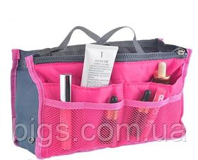 Органайзер в сумочку Bag-in-Bag косметичка 29*18*10 см Розовый