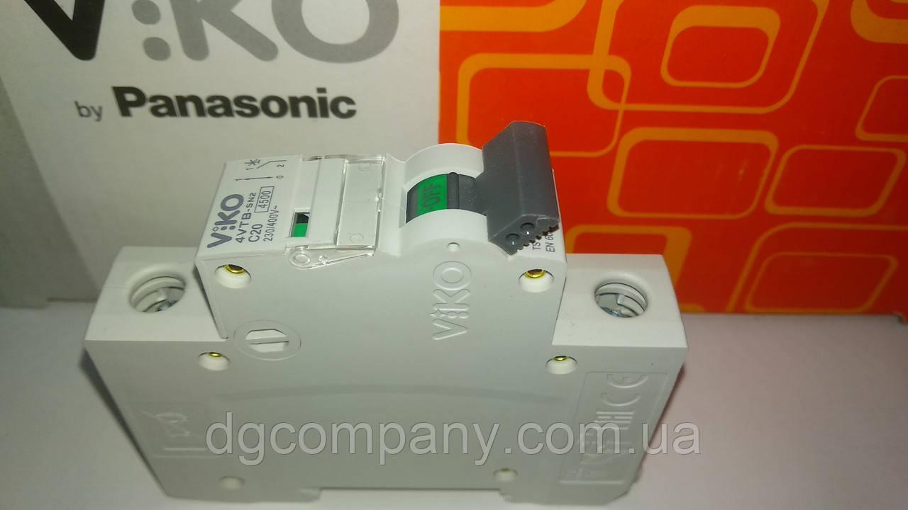 Автоматический выключатель Viko 1кл 20 А
