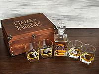 Подарок для любителей Игры Престолов, стеклянный графин и стаканы для виски, корпоративный подарок на Новый го