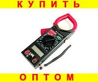 Мультиметр + токоизмерительные клещи DT266FT + ПОДАРОК: Брелок с паракордом ультрафиолетовый лазер и фонарик