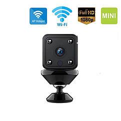Портативная беспроводная охранная мини WiFiIP камера Hebeiros ST-USB2M 1080P с батареей и AP Hotspot.Mycam