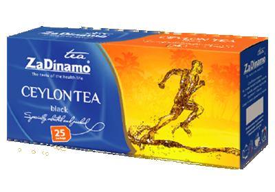 Чай черный цейлонский Za Dinamo Ceylon пакетированный 25*2 г