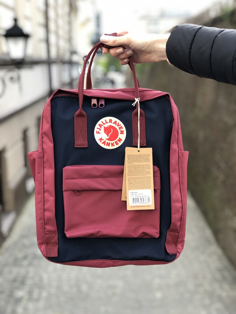 Бордовый вместительный городской рюкзак Kanken Канкен