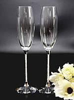 Свадебные бокалы с кристаллами Сваровски  (перед заказом уточняйте наличие, цена указана за 1 бокал) СВАР-20, фото 1