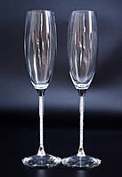 Свадебные бокалы с кристаллами Сваровски (перед заказом уточняйте наличие, цена указана за 1 бокал) СВАР-22
