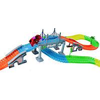 Детская гибкая игрушечная дорога Magic Tracks 360 деталей + ПОДАРОК: Брелок с паракордом ультрафиолетовый