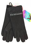 Женские перчатки с украшением черного цвета
