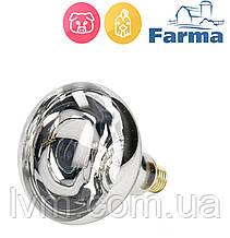 Лампа инфракрасная HardGlass 250Вт белая, для обогрева животных и птиц FARMA (Польша) ОРИГИНАЛ !