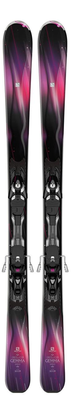 Горные лыжи женские Salomon M GEMMA black/PURPLE/PINK + MXT10 TI W C90 (MD)