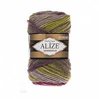 Пряжа Alize LanaGold Batik 100гр - 240м (3940 Разноцветная) 51% акрил, 49% шерсть, Турция