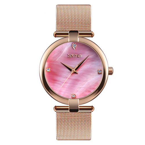 Skmei 9177 Gold Pink