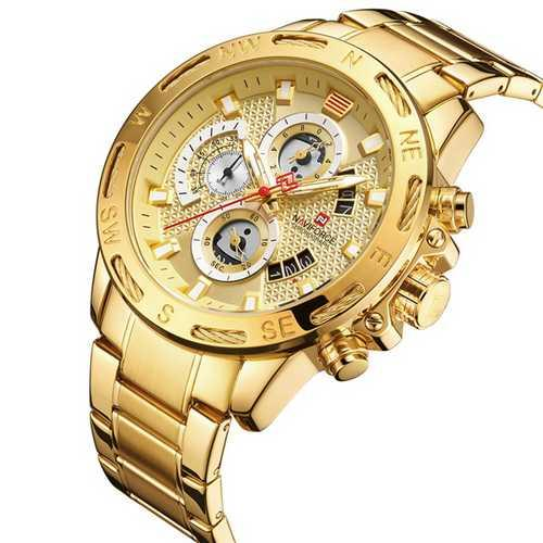 Naviforce NF9165 All Gold