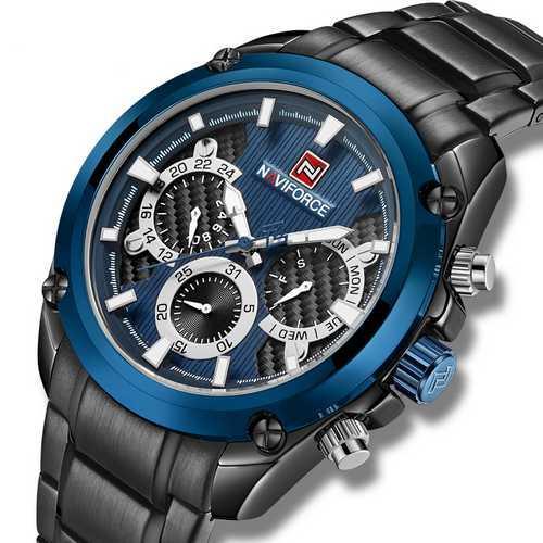 Naviforce NF9113 Black-Blue