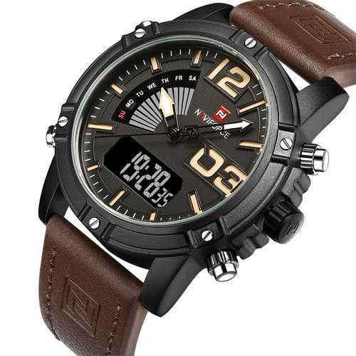 Naviforce NF9095 Black-Dark-Brown
